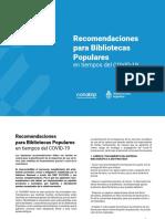 RECOMENDACIONES-BIBLIOTECAS POPULARES EN TIEMPOS DE COVID