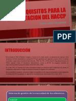PRERREQUISITOS PARA LA IMPLEMTACION DEL HACCP