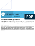 Une Approche Verte, Ça Rapporte _ Finance Et Investissement