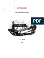 yetholm - materials for a history by p d wood  2007