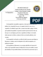 BIOSEGURIDAD                Molina Molina Kevin, Solano Ochoa Maickel