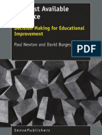 The Best Available Evidence Decision Making for Educational Improvement