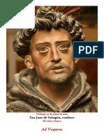 12 de junio de 2020. San Juan de Sahagún, confesor. Vísperas gregorianas