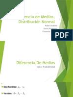 Diferencia de Medias, Distribución Normal.pptx