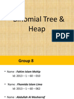 Binomial tree and heap