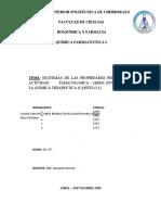 Propiedades fisicoquimicas y actividad farmacologica