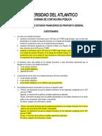 Cuestionario  notas y EEFF