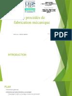 Les procédés de fabrication mécanique.pptx