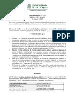 RESOLUCIÓN 1016 de 2020 - Nuevo Calendario 2020-2 Posgrados Reformado a Junio 11