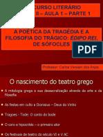 A POÉTICA DA TRAGÉDIA E A FILOSOFIA DO TRÁGICO- ÉDIPO REI