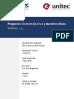 Conciencia ética y modelos éticos_María José Alvarado