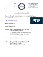 Agenda for the Carroll County MD Board of Commissioners for the week of January 10, 2011