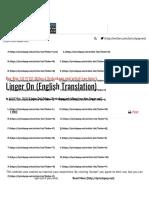 Roy Kim Linger On English Translation Lyrics