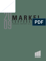 Markel 2009 Annual Report