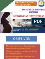 EMERGENCIAS OBSTETRICAS - SE MINARIO DR ENRIQUEZ