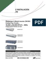 U-MATCH 16SEER IOM F&C (2019)MS-SVX062A-EM_03062019
