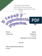 Etapas y organización de proyectos.