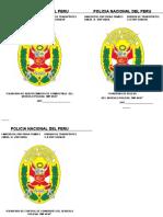 POLICIA NACIONAL DEL PERU- VIÑETA