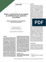 Diseño y construcción de una estación de ultrafiltración para separación de proteínas