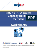 RPMS-PPST SY 2020-2021 Capacity Building for Raters - Worksheets with COT