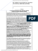 COMMON LAW VEHICULAR JUDICIAL NOTICE - CONSTITUTIONAL DRIVER LICENSE