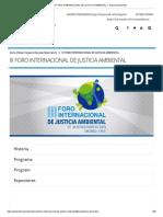 III FORO INTERNACIONAL DE JUSTICIA AMBIENTAL – Tribunal Ambiental 5