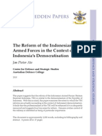 """""""The Reform of the Indonesian  Armed Forces in the Context of  Indonesia's Democratisation"""" by Jan Pieter Ate"""