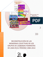 Memorias del GALF , primer grupo de lesbiaanas peruanas