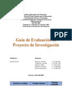 Guia de evaluacion de proyecto de investigación  ELEGIDO
