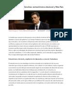 El plan de Pedro Sánchez