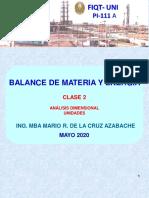 BALANCE DE MATERIA Y ENERGIA-clase 2