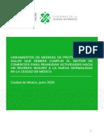Lineamientos para comercios en CDMX