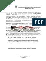 Contrato prestación de servicios profesionales de abogado