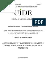 Abp N° 1 (Aditivos de aceites y sus propósitos)