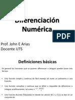 Diferenciación numérica
