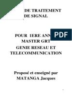 COUR DE TRAITEMENT DE SIGNAL master  1