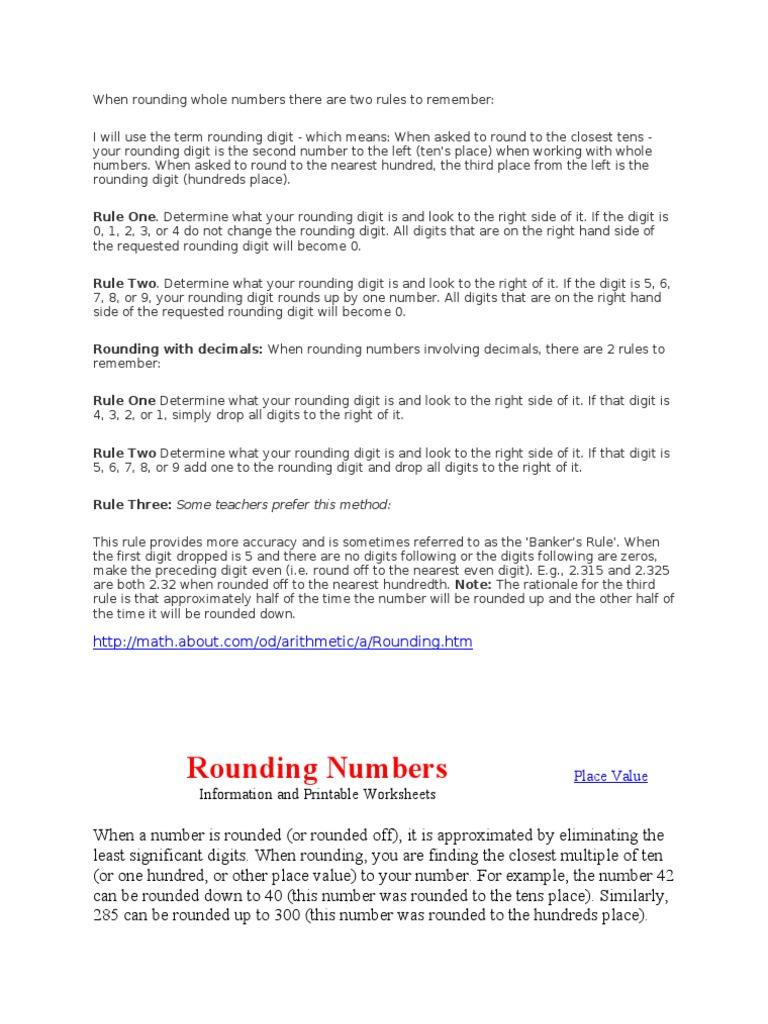 Meaning of Rounding Off | Rounding | Numbers