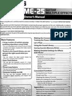 Boss ME-25 Manual