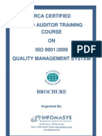 ISO 9001 Lead Auditor Course Brochure