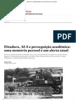 Ditadura, AI-5 e perseguição acadêmica_ uma memória pessoal e um alerta atual