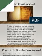 Concepto de constitucion y Derecho constitucional