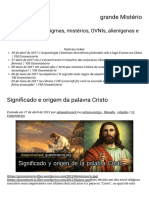 Significado e origem da palavra Cristo - Grande Mistério