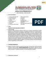 COMUNICACIÓN-MODULO DE APRENDIZAJE 5TO ABCD