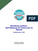 Manifesto Politico Alleanza di Centro