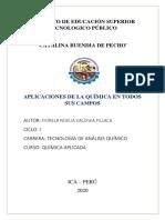 APLICACIONES DE LA QUIMICA EN TODOS SUS CAMPOS
