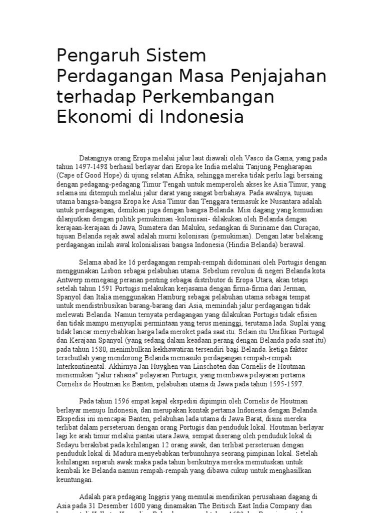Sistem perdagangan internasional Indonesia masih bermasalah