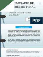 CLASE 1 . TEORIA DEL DELITO
