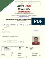 Final Specialization Form BBA(H)-sem V - Copy