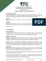 ANEXO VI – MODELO DE PROJETO DE TCC