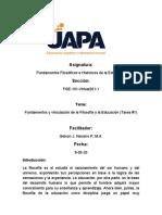 tarea 1 F. Filosofico e H. de la Educacion